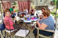 Knitting Holidays In France : Knitting retreat to hell bay group photo trips