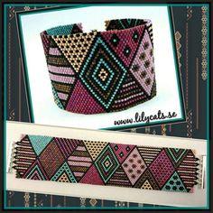 Indigenous Australian Inspired 3 Peyote by SusanArrighiDesigns Peyote Stitch Patterns, Bead Loom Patterns, Bracelet Patterns, Beading Patterns, Seed Bead Projects, Beaded Jewelry Designs, Bead Loom Bracelets, Bead Kits, Beaded Bracelets