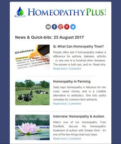 Read all of Homeopathy Plus's latest homeopathic news around the world. #homeopathy