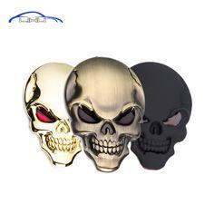Personalized! 3D Metal Skull Car Sticker skull car styling stickers accessories Truck Motor Car Hood decorative stickers