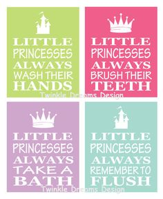 find this pin and more on for the kiddos princess art bathroom print little kid - Kid Prints