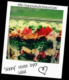 """skinny"" seven layer salad ♥ recipe - Foodista.com"