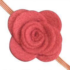 3D felt roses on an elastic skinny band. These are so fabulous and fun. Suitable for a princess indeed.