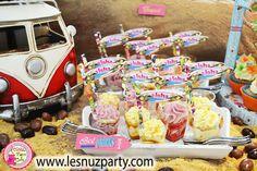 Shots de mango, maracuyá y frutas del bosque para mesa dulce con temática Surf - Surf themed Sweet bar