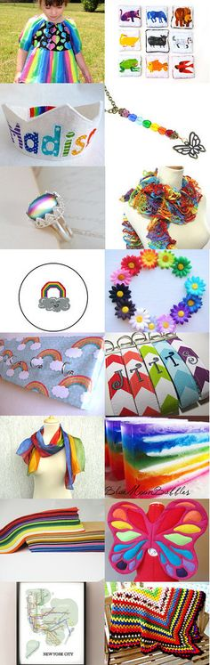 Rainbows in Spring by Amy Spock on Etsy--Pinned with TreasuryPin.com