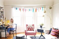 Sarah's Curio Filled Studio House Tour | Apartment Therapy. pretty pretty girly room