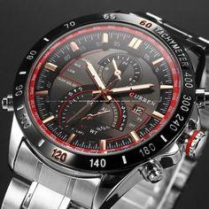 Mens Watches Top Brand Luxury Stainless Steel Quartz Men Watch Curren 8149 Man Sport Wristwatch Waterprpoof Male Clock Relogios