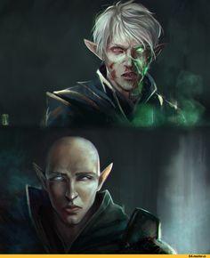 kurocyou,Инквизитор (DA),DA персонажи,Dragon Age,фэндомы,Солас,DAI