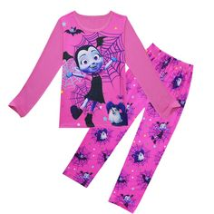02bfad2fc986 3-9Years Cartoon Vampirina Two-piece Toddler Girl Clothing Set Spring  Autumn 2018 Kids Girls Clothes Sets Children Pajamas Set