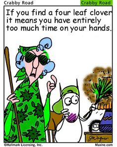 maxine on st paddy day