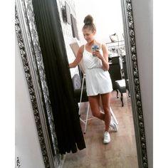 #jumpsuit #white #suntan #converse #summer #work #holiday