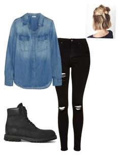 """Untitled #31"" by yasminabuwi on Polyvore featuring Topshop, Splendid and Timberland"