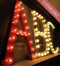 Custom Marquee Letter  | An alternative to those pricey vintage metal signs, these cust... | Decor