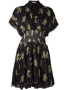 GIAMBA Tiger Print Shirt Dress. #giamba #cloth #dress