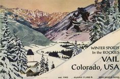Vintage Vail pictures | ski vail: ROCKIES VAIL COLORADO USA SKI SKIING WINTER SPORTS VINTAGE ...