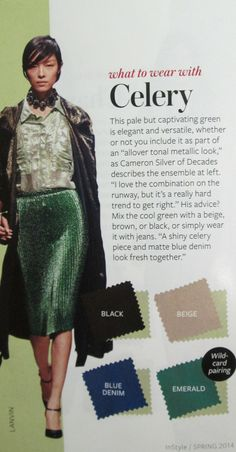 Instyle Color Crash Course - Celery