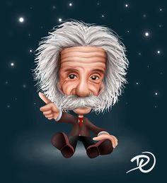 Daiana Oliveira Caricatura Albert Einstein