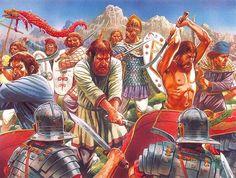 Dacian warriors fighting against Roman Legionary Invading Troops - http://www.inblogg.com/dacian-warriors-fighting-against-roman-legionary-invading-troops/