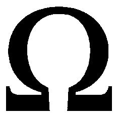 Omega Symbol | The Ohm symbol, denoted by the omega, the symbol of electrical ...