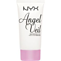 NYX COSMETICS Angel Veil - Skin Perfecting Primer ($18) ❤ liked on Polyvore featuring beauty products, makeup, face makeup, makeup primer and nyx