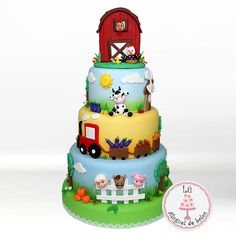 Farm Animal Party, Farm Animal Birthday, Barnyard Party, Farm Party, Farm Birthday Cakes, Birthday Cake Girls, Farm Cake, Birthday Celebration, Cupcakes