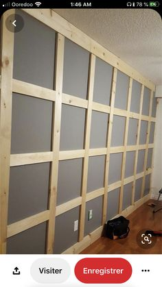 New glass panel door diy dining rooms ideas Brick Paneling, Paneling Ideas, Paneling Makeover, Wall Panelling, Porta Diy, Painted Wood Ceiling, Glass Pantry Door, Glass Doors, Pantry Doors