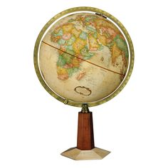 Add a timeless classic appeal to your home by incorporating this Leerdam desktop globe in your interior design. Made from reclaimed paper to achieve an old-world vibe, this accent piece showcases a fully up-to-date map for accuracy.