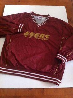 337094c9c  NFL Boys San Francisco 49ers V-neck Pullover Wind Jacket Size M 8