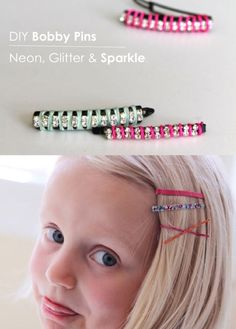 A lot of different fun DIY bobby pins etc... so many cute ideas