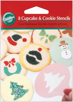Wilton Holiday Mini Stencil Set of 8 >>> Get more discounts! Click the pin : Baking Accessories