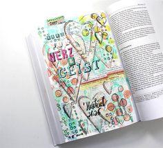 Willkommen 2017 | Bible Art Journaling by Rebecca Sawatsky Ezekiel 36:26 a new heart and a new spirit