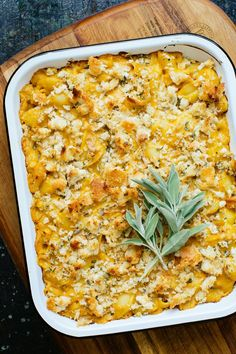 This easy Butternut Squash Mac and Cheese Recipe is flavored with aged cheddar, cayenne, black pepper, Dijon mustard and fresh herbs.