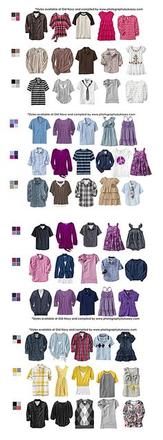 What to Wear-Clothing Ideas. I need to show this to my girls so they can see some new color combos.
