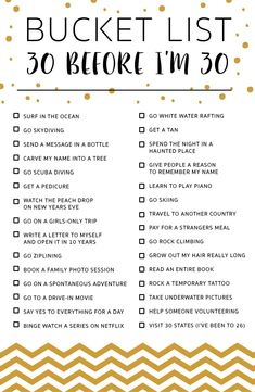 See more ideas about 30 before 30 list, 30 things to do before 30 and list Best Friend Bucket List, Bucket List Life, Bucket List Quotes, Travel Bucket Lists, Journal Bucket List, Couple Goals Bucket Lists, Funny Bucket List, Bucket List Ideas For Women, College Bucket List
