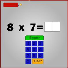 Interactive Education- Students must solve the multiplication sentence before the dynamite explodes. Multiplication Facts, Math Facts, Fractions, Math Resources, Math Activities, Math School, Fun Math, Maths, Third Grade Math