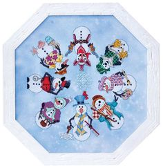 Snowman ala Round pattern