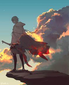 Touken Ranbu こちらのお題もお借りしました( ´ ▽ ` ) お題「佇む」 #鶴丸国永版お絵描き60分一本勝負