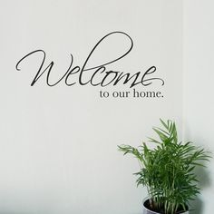 Welcome To Our Home Wall Sticker Vinyl Decal Stickers words quote mural on Etsy, $23.96