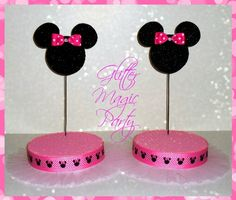 Minnie Mouse Stands - Lollipops or Cakepops Stands - Minnie Mouse Birthday - Minnie Mouse Baby Shower - SET OF 2 STANDS #lollipopsstand #lollipopsholder #cakepopsholder #lollipopsstand #minniemouseparty #minniemousetheme #minniemousebirthdayparty #minniemouse #minniemouseinspired #minniemouse1styear #minniemousebirthdaytheme #minniemousebabyshower #minniemousecandybuffet #minniemousedecoration #minniemousecandytable