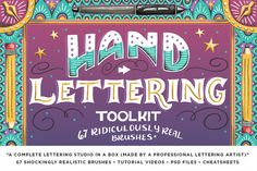 The Hand Lettering Mega Bundle by RetroSupply Co. on @creativemarket
