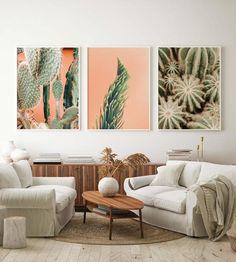 Succulent Wall Art, Cactus Wall Art, Succulent Planters, Succulents Garden, Wall Art Sets, Wall Art Decor, Decoration Cactus, Southwestern Decorating, Southwestern Style