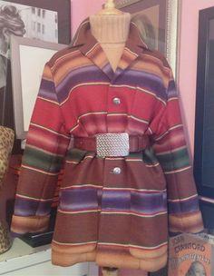 Ralph Lauren Country Blanket Coat - 1980s Ralph Lauren Southwestern Coat - Size M. $318.00, via Etsy.