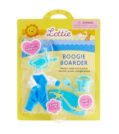 Body Boarder outfit for the Lottie doll - see more at: http://www.lottie.com/collections/all-products/products/body-boarder-clothes-outfit-for-lottie-doll