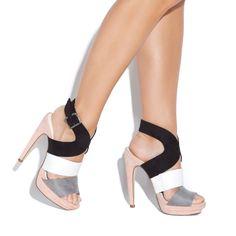 Colorblocking Heels.
