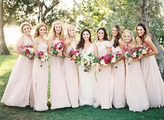 light pink bridesmai