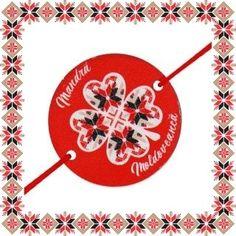 Martisor Bratara Lemn Mandra Moldoveanca Traditional, Design