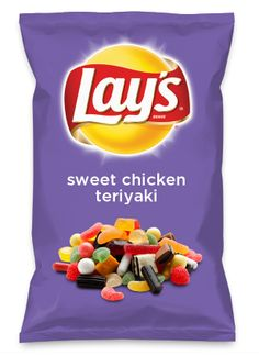 Wouldn't sweet chicken teriyaki be yummy as a chip? Lay's Do Us A Flavor is back, and the search is on for the yummiest chip idea. Create one using your favorite flavors from around the country and you could win $1 million! https://www.dousaflavor.com See Rules.