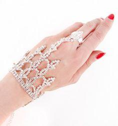 Rhinestone Net Hand Bracelett | Patricia Field
