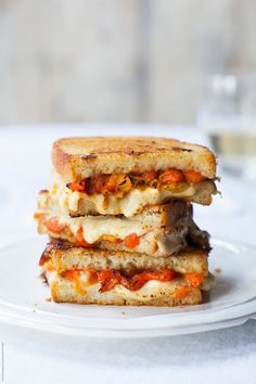 Roasted Red Peppers Grilled Cheese by Sara Remington - Stocksy United