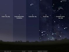 How light pollution affects the visibility of stars Sistema Solar, Constellations, Cosmos, Ciel Sombre, Hd Sky, Site Image, Into The Wild, City Sky, Light Pollution